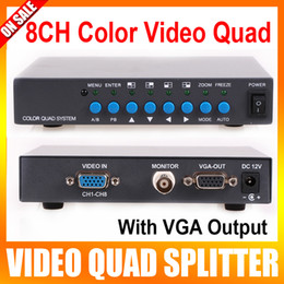 Wholesale 8 Channel Digital Color Quad System VGA OUT Video Processor Splitter BNC Switcher for CCTV System