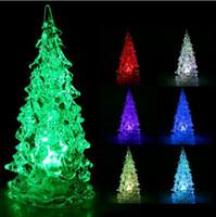 Wholesale FREE DHL Best Gift RGB Colorful LED Christmas Tree NightLight Christmas Decoration Night Light Freeshipping dropshipping