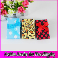 Wholesale Fantasy Jewellery Box Multi Colors New Gift Beautiful Fashion Jewelry Bracelet Ring Earring Pendant Box