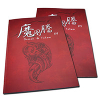 New 2pcs/set  2pcs Set Tattoo Books Demon & Totem Flash Tattoo Manuscript A3 Size