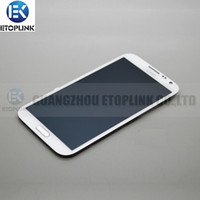 Wholesale For Samsung Galaxy Note N7100 LCD Screen with Touch Screen Digitizer Frame Assembly White Gray Color