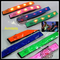 armlets - LED Strip Armlets safety outdoor luminous Arm sleeve armband leggings Fashion hot Selling Arm Bands for Sports running bike at night