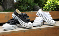 Wholesale Women Casual Shoes Canvas Shoes Velcro Style Summer White Black Color prs
