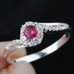 Women Lab Red Ruby Real Wedding 925 Sterling Silver Ring WEDN R144 Size 6.5 7 8 9