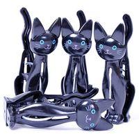 venda por atacado hangers-24pcs / lot Mercadorias recém-chegadas Branco roupas de gato preto Pin Clothes Rack cabide Cl11