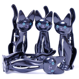 Wholesale 24pcs Newly Arrived Goods White Black Cat s Clothes Pin Clothes Rack Coat Hanger Cl11