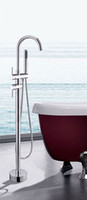 Wholesale Bathroom Two Handles tub faucets with hand shower Chrome finish bathtub shower mixer