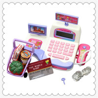 Wholesale Education Kids Display and Scanning Function Cash Register Toy Education Supermarket Toy