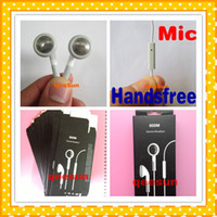 Wholesale Cheap Earphone W Mic For Apple IPhone S C G S IPod IPad mm Headset Headphone HandsFree With Retail Package Box DHL