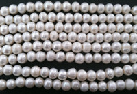 Wholesale 8 mm Natural Cultured mm big hole Freshwater White Round Pearl Craft Beads A grade