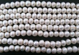 8-10 mm Natural Cultivadas 3 milímetros de água doce grande buraco redondo branco pérola Craft Beads A 250pcs grau / lot
