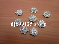 Wholesale mm rhinestone Simplicity Large Button Bling stone Button Alloy Metal Buttons Flat Back Accessory
