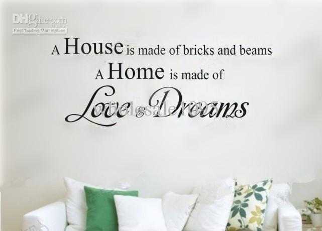 Charming New Arrive Home Wall Art U0027 Love U0026Amp; Dreams U0027wall Stickers Wall  Decoration Christmas Gift Part 31