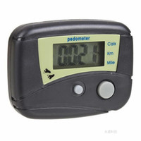 Wholesale Pedometer LCD Step Calorie Counter Walking Distance LCD Run Pedometer black