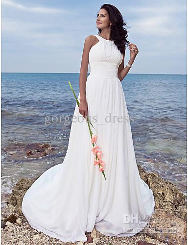 Discount Beach Wedding Dresses Halter Style  2017 Beach Wedding ...