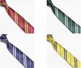 Wholesale Christmas Activity Harry Potter tie Unisex Fashion tie Hogwarts School tie elegant striped