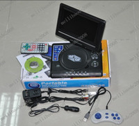Portable portable dvd player tv - O55 Brand New Design Portable inch EVD Video DVD Player With TV MP3 Mp4 Game