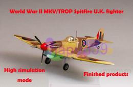 Wholesale free ship new finished world war II piston propeller fighter model military aircraft model MKV TROP Spitfire U K fighter