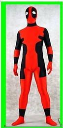 New fancy dress party lycra spandex zentai costume deadpool ---Wholesale Price