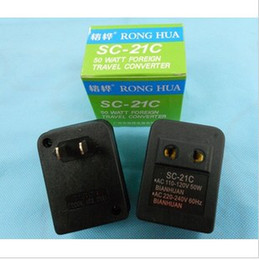 Wholesale Voltage Converter V To V Travel Power Transformer Regulator Adapter W SC C