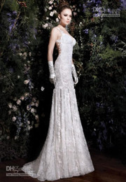 Wholesale 2013 Wedding Dresses Hot Sexy Backless Elegent Lace Beaded White Ivory Mermaid Dresses GL04