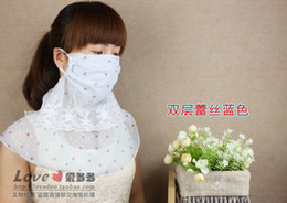 Wholesale 2pcs Beauty yarn Face Masks new woman mask Summer travel sun outdoors oversized masks dust masks UV Neck Women