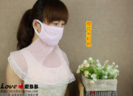 Wholesale sex appeal new woman mask Summer travel sun outdoors oversized masks dust masks UV Neck Women Beauty yarn Face Masks