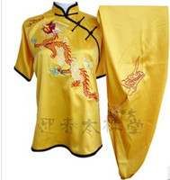 Wholesale elegant side opening male dragon martial arts uniform