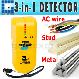 Wholesale E04 Handheld in Detector Find Metal Wood Studs AC Voltage Live Wire Wall Scanner Electric Box Finder Tester with Groove Buzzer