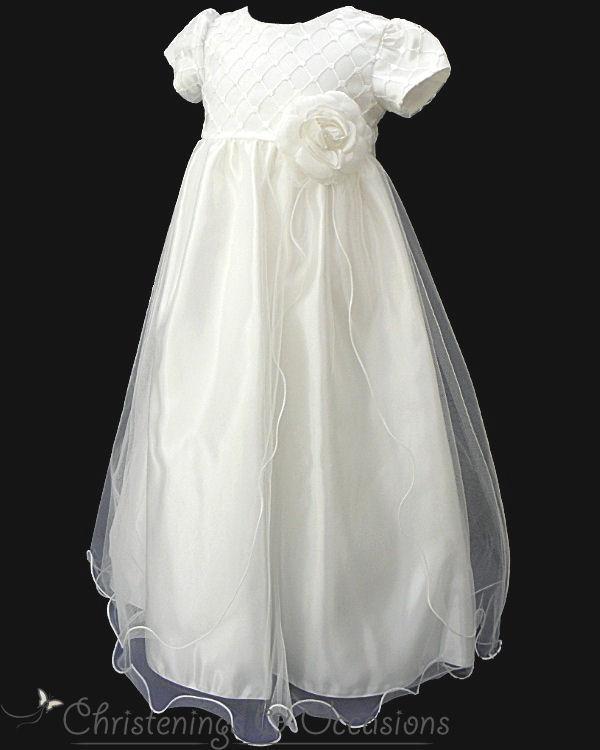 Cheap Chrisom Baby Infant Christening Dresses Jewel Short Sleeves ...