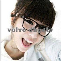 Wholesale Retro Black Fashion Style Wayfarer Nerd Clear Lens Black Frame Glasses Unisex For Adult DK1912