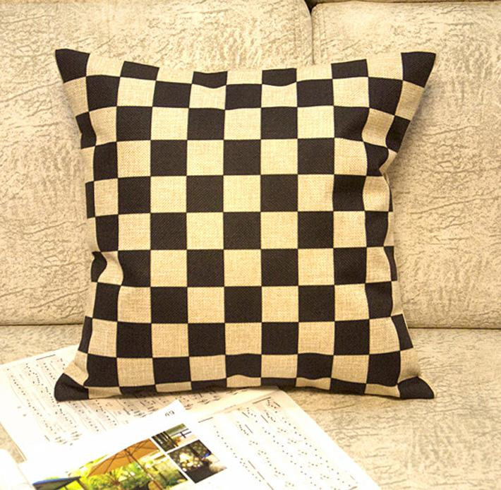 Throw Pillow Covers 25x25 : Wholesale Decorative Linen Cushion Cover Pillow Case Black And White Squares 25x25 Outdoor ...