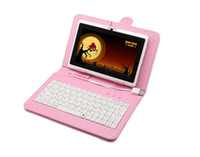 Wholesale Hot Multi Color Inch PU Leather USB Keyboard For Q88 Tablet PC MID