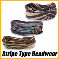 Wholesale Authentic Multifunctional Stripe Type Headwear Scarf Snood Bandana Neck Warmer Face Mask Headband