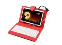 Hot 7 Inch PU Leather Keyboard Stand Case For 7 Inch Tablet ...