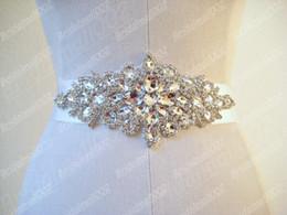 Wholesale Clear Beaded Sash - 2015 Hot Sale Clear crystal beaded sash wedding dress belt wedding accessory Custom Made color Bridal Belts TB097