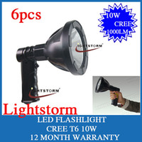 Wholesale 2013 W CREE T6 LED Flashlight Rechargeable Outdoor Light For Hunting Camping Boating