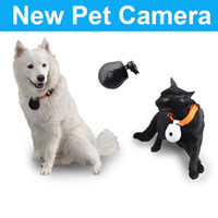 Wholesale 50pcs Hot sale Brand New Video Dog Cat Pet s Eye View Digital Clip On Collar Camera Cam Pet Sup MYY4235