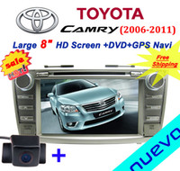 Wholesale inch Toyota Camry Car DVD with GPS navigation Bluetooth Radio iPod USB ATV SD Free map Gift camera
