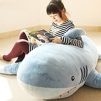 SHARK   Blue Plush 1800MM GIANT HUGE BIG SHARK STUFFED ANIMAL PLUSH SOFT TOY PILLOW SOFA