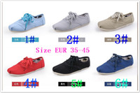 Wholesale 2013 flat casual tie solid color canvas shoes shallow mouth low to help couples classic casual shoes