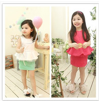 Wholesale Phelfish Dresses Girls sleeveless one pieces Children fashion sundress princess costume kids clothes tdlzsz