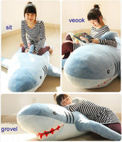 "Aquatic Animals Blue Plush 71"" GIANT HUGE BIG SHARK STUFFED ANIMAL PLUSH SOFT TOY PILLOW SOFA"