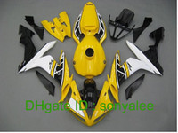 Wholesale yellow white black fairings for YAMAHA YZF R1 YZFR1 YZF1000 YZF YZF1000 fairing kit E72
