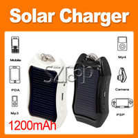 Wholesale 1200mah Key Chain Portable Solar Mobile Charger for iPhone I9300 N7100