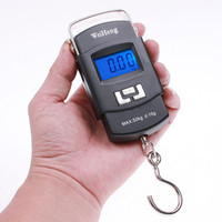 Digital scale 10g-50kg  100 pcs lot 50Kg x 10g Mini Digital Scale Hanging Luggage Fishing Weighing Portable #2268