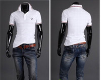 Men Polo Short Sleeve New Men's T-Shirts Mens Casual Striped fashion embroidery Short Sleeve T-shirts 2650