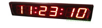 Wholesale 4inch digits red color hours minutes and seconds segment led clock HIT6 R