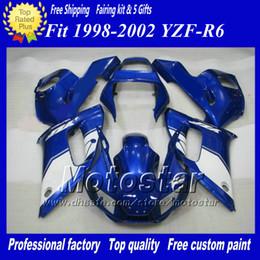 Fairing for YAMAHA R6 YZF-R6 98 99 00 01 02 YZF-R6 YZFR6 1998 1999 2000 2001 2002 Blue White ZM476