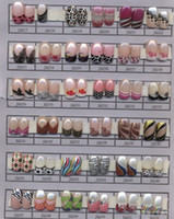 Natural Tips Full Nail 5x(24pcs set) Pre Designed French Acrylic False Nail Full Tips with Free Nail Glue Free Shipping